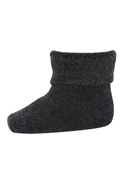 MP Denmark wol teddy sokjes 484 dark grey melange