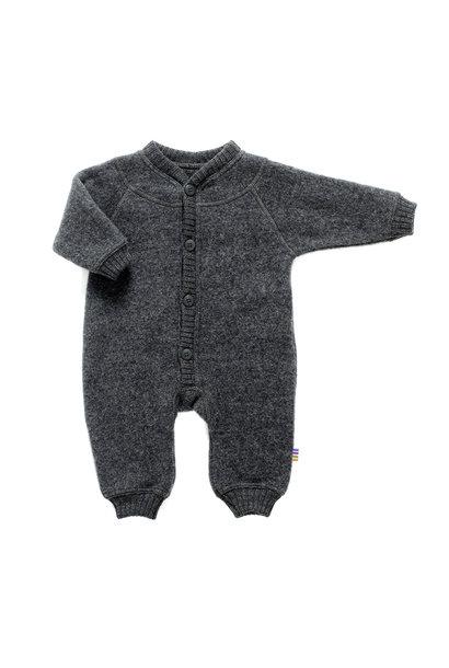 Joha jumpsuit 100% wol - Dark grey melange