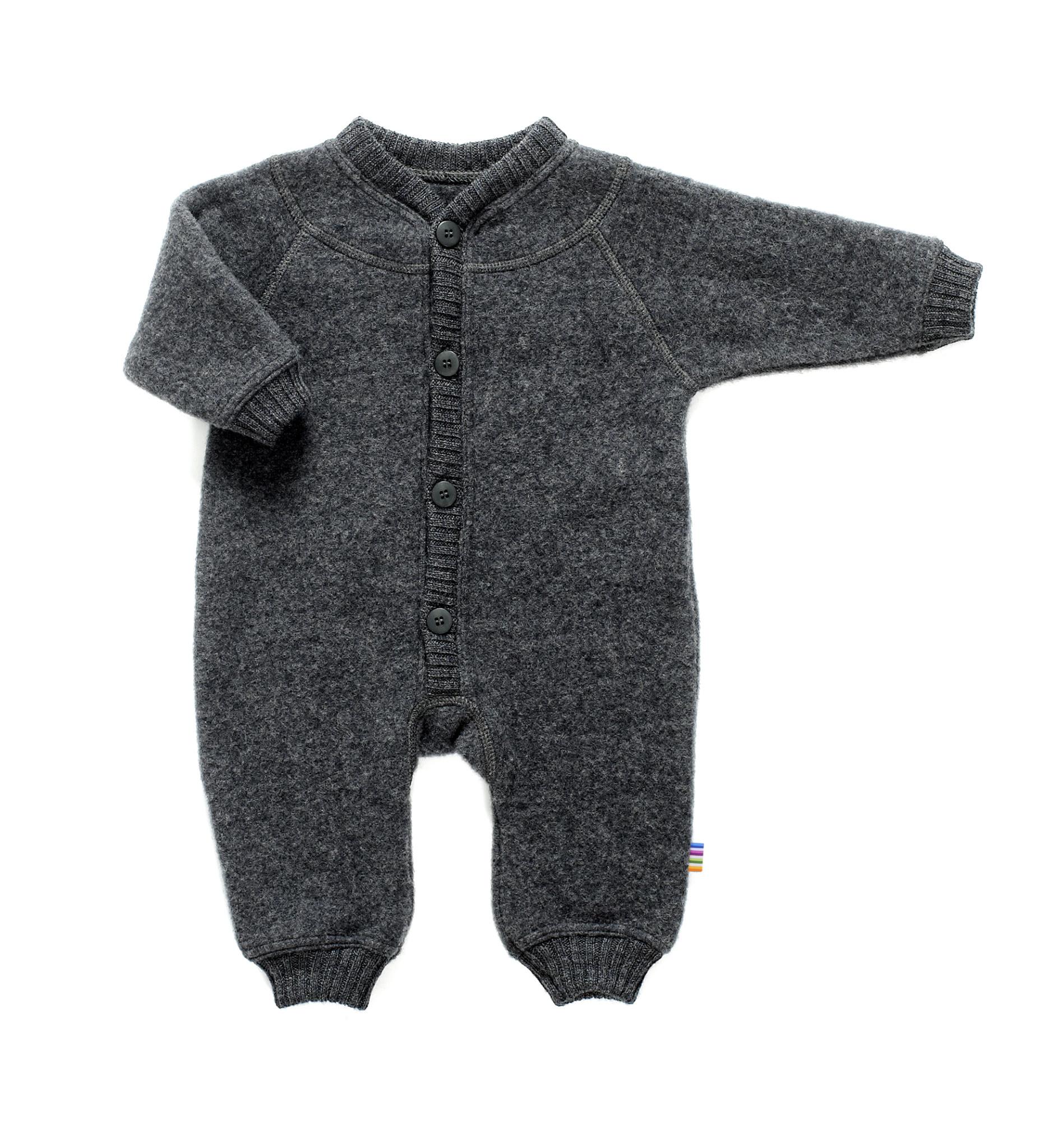 Joha jumpsuit 100% wol - Dark grey melange-1