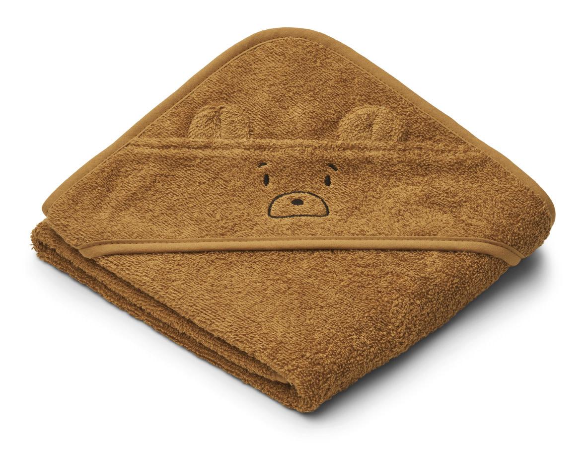 Liewood albert badcape mr bear golden caramel-2
