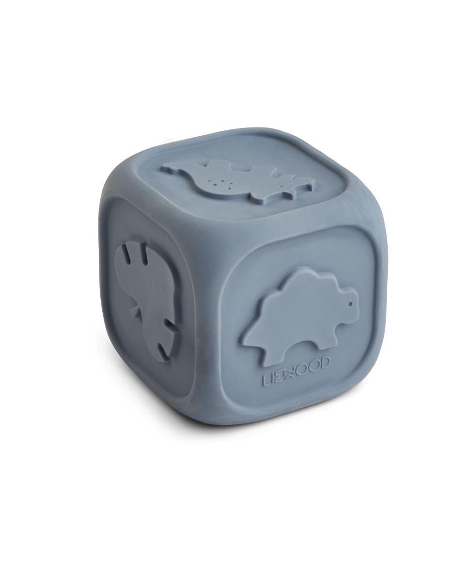 Liewood andrew rubberen dobbelsteen stormy blue-1