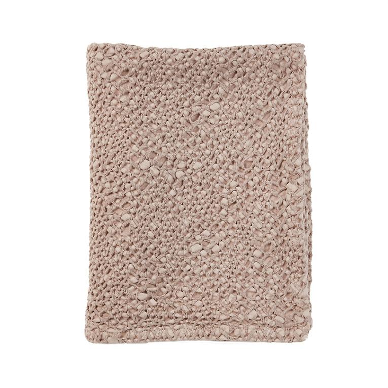 Mies & Co honeycomb wieg deken blossom powder-1