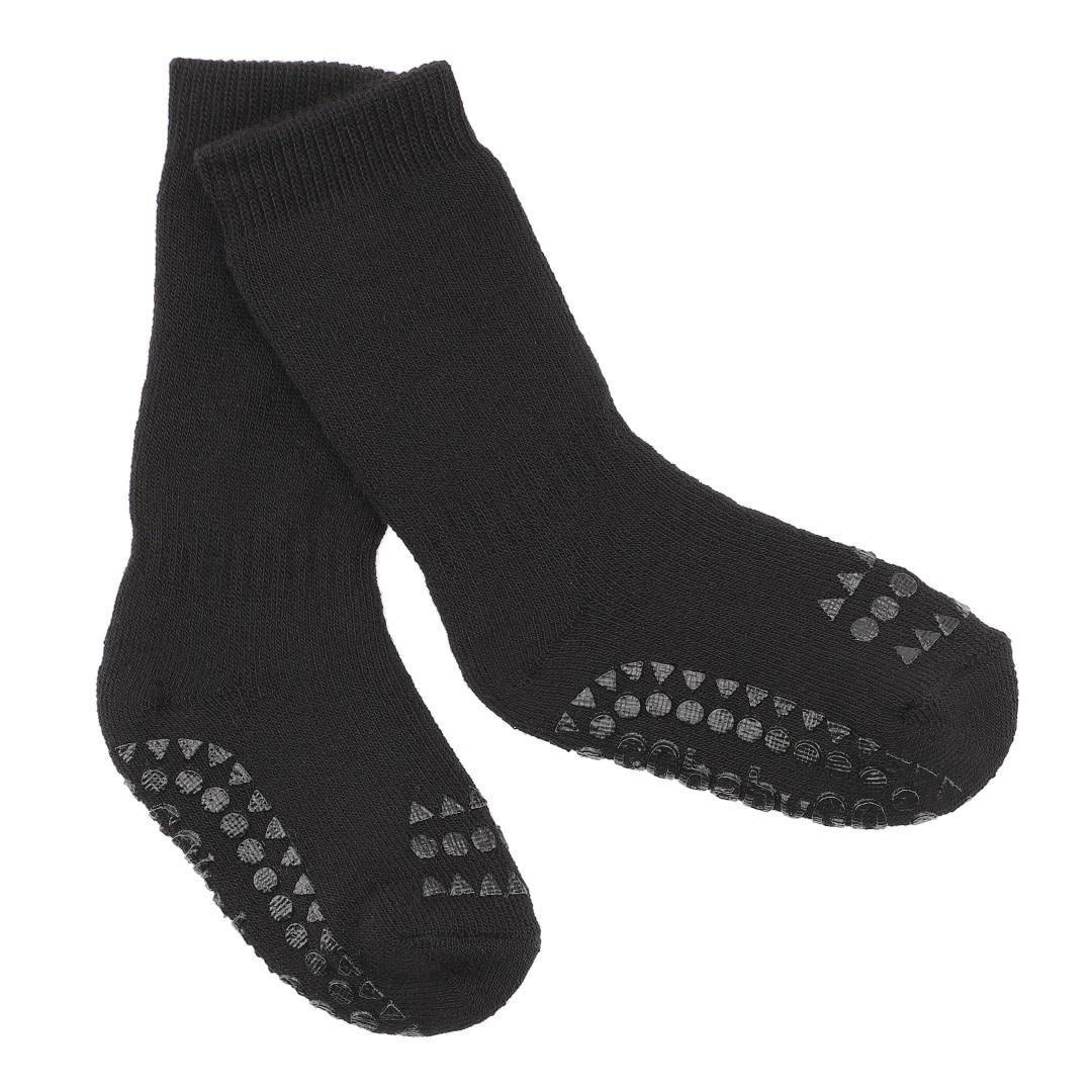 GoBabyGo anti slip sokjes black-1