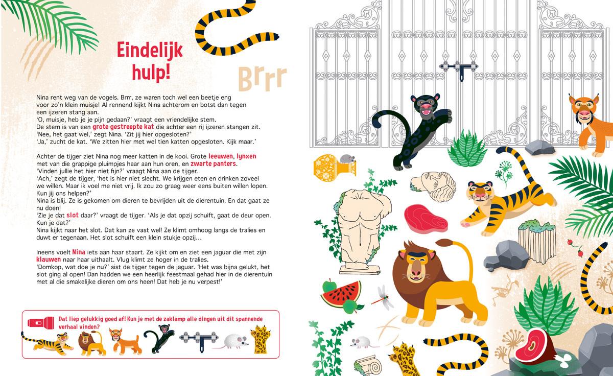 Zaklampboek - speuren in de dierentuin-2