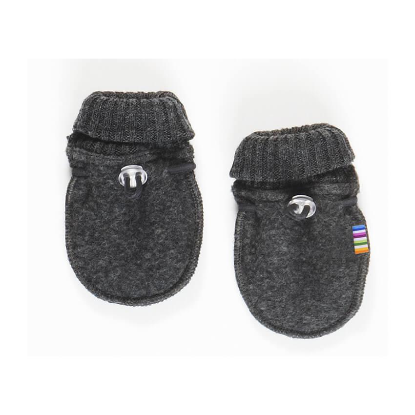 Joha handschoentjes 100% wol - Dark grey melange-1