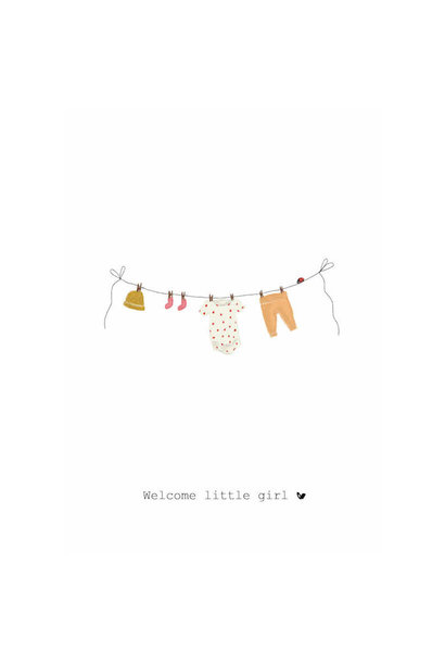 Nadine's illustraties welcome little girl