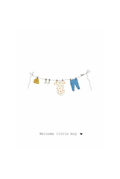 Nadine's illustraties welcome little boy