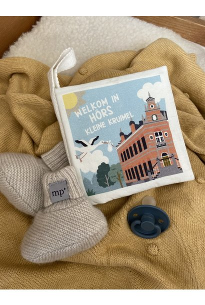 Kruimel zacht babyboekje 'Welkom in Hôrs'