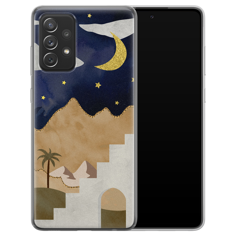 Leuke Telefoonhoesjes Samsung Galaxy A72 siliconen hoesje - Desert night
