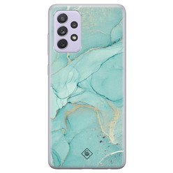 Casimoda Samsung Galaxy A72 siliconen hoesje - Touch of mint