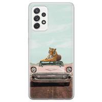 ELLECHIQ Samsung Galaxy A72 siliconen hoesje - Chill tijger