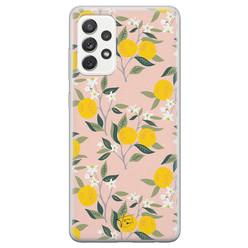 Telefoonhoesje Store Samsung Galaxy A72 siliconen hoesje - Citroenen