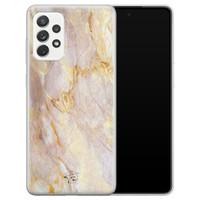 ELLECHIQ Samsung Galaxy A72 siliconen hoesje - Stay Golden Marble