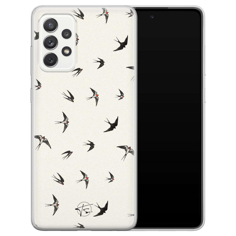 Telefoonhoesje Store Samsung Galaxy A72 siliconen hoesje - Freedom birds