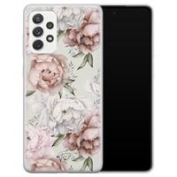 Telefoonhoesje Store Samsung Galaxy A72 siliconen hoesje - Classy flowers