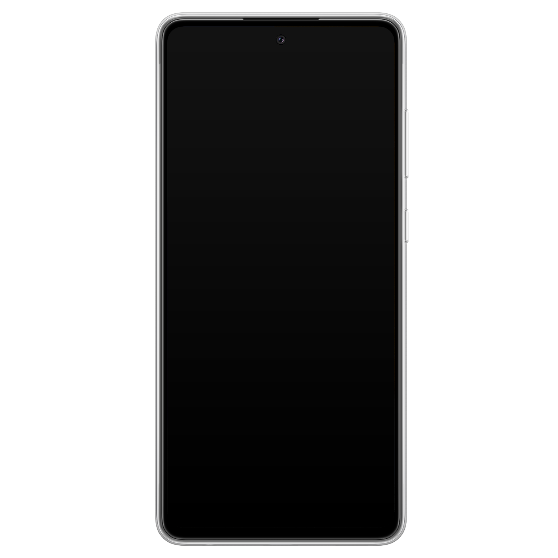 Telefoonhoesje Store Samsung Galaxy A72 siliconen hoesje - Mint hartjes