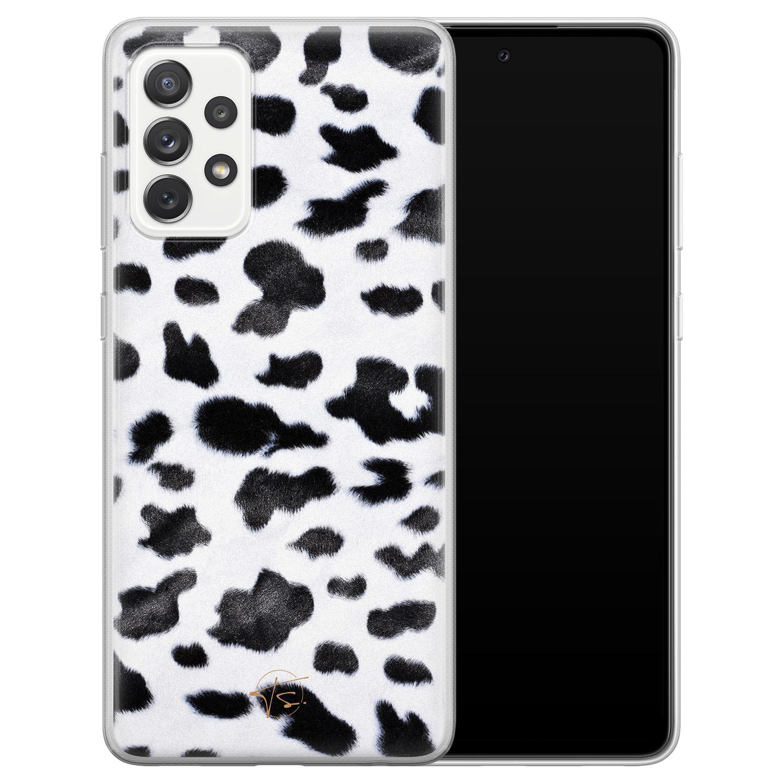 Telefoonhoesje Store Samsung Galaxy A72 siliconen hoesje - Koeienprint