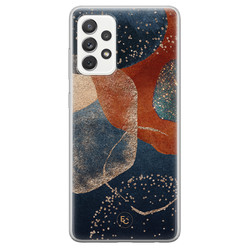 ELLECHIQ Samsung Galaxy A72 siliconen hoesje - Abstract Terracotta