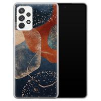 ELLECHIQ Samsung Galaxy A72 siliconen hoesje - Abstract Terracotta