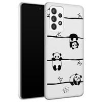Telefoonhoesje Store Samsung Galaxy A72 siliconen hoesje - Panda