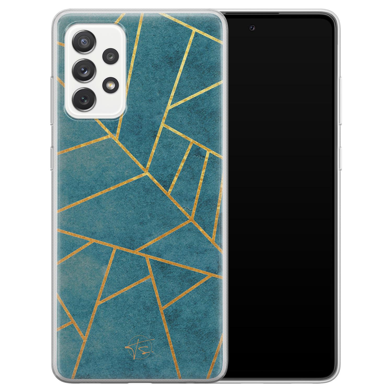 Telefoonhoesje Store Samsung Galaxy A72 siliconen hoesje - Abstract blauw