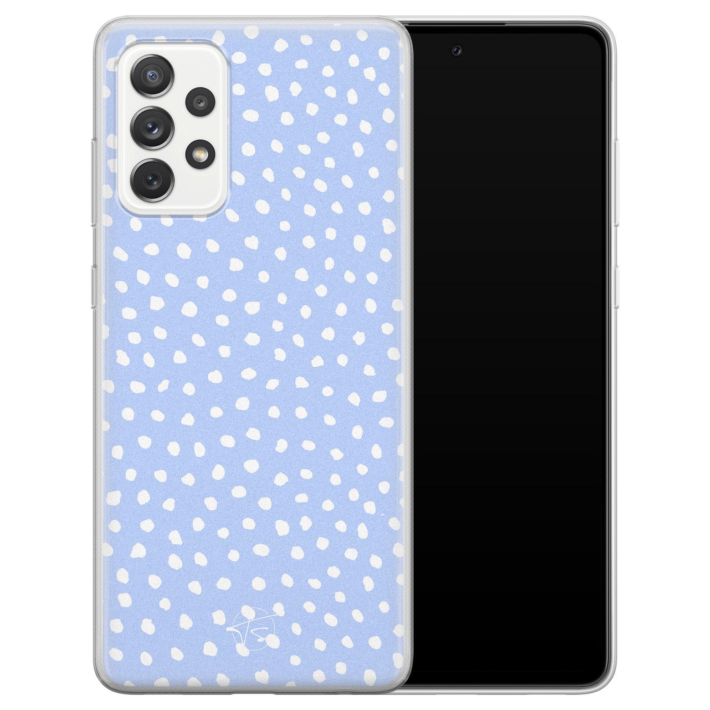 Telefoonhoesje Store Samsung Galaxy A72 siliconen hoesje - Purple dots