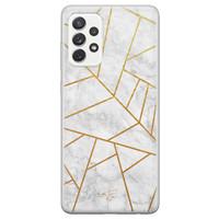 Telefoonhoesje Store Samsung Galaxy A72 siliconen hoesje - Geometrisch marmer