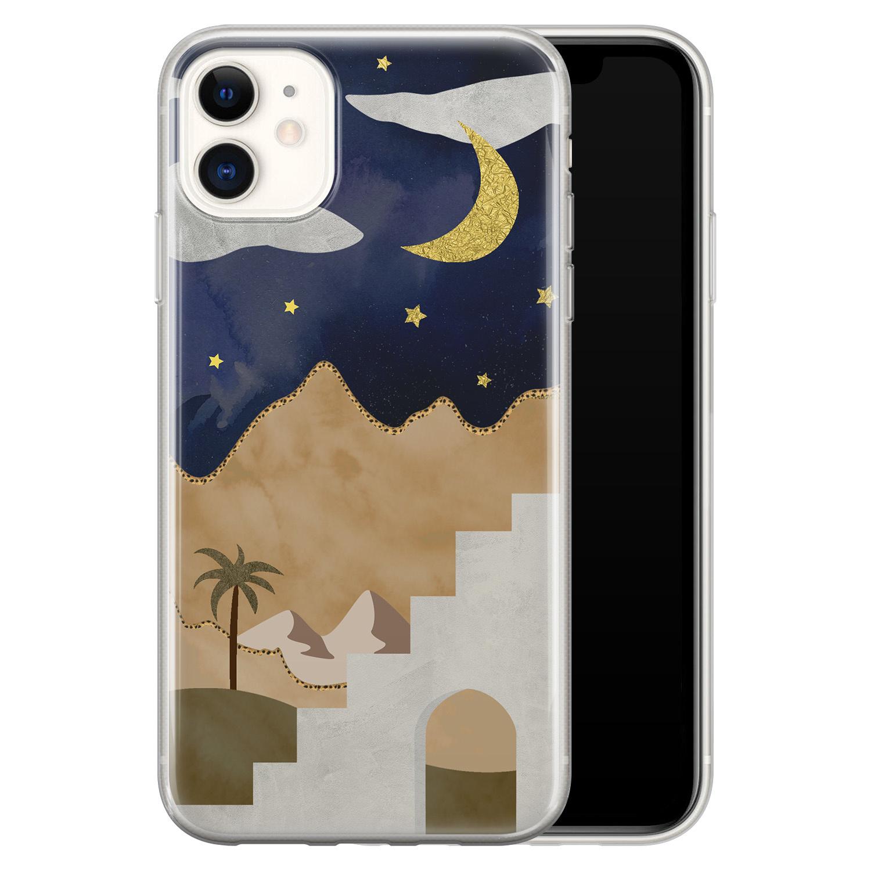 Leuke Telefoonhoesjes iPhone 11 siliconen hoesje - Desert night