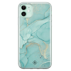 Casimoda iPhone 11 siliconen hoesje - Touch of mint