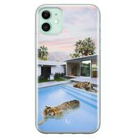 ELLECHIQ iPhone 11 siliconen hoesje - Tiger pool