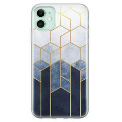 Telefoonhoesje Store iPhone 11 siliconen hoesje - Geometrisch fade art