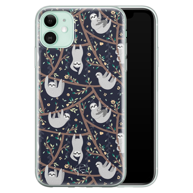 Telefoonhoesje Store iPhone 11 siliconen hoesje - Luiaard