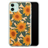 Telefoonhoesje Store iPhone 11 siliconen hoesje - Zonnebloemen