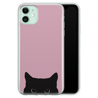 Telefoonhoesje Store iPhone 11 siliconen hoesje - Zwarte kat