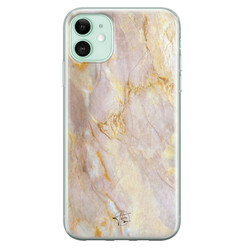 ELLECHIQ iPhone 11 siliconen hoesje - Stay Golden Marble
