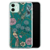 Telefoonhoesje Store iPhone 11 siliconen hoesje - Bloomy birds