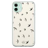 Telefoonhoesje Store iPhone 11 siliconen hoesje - Freedom birds