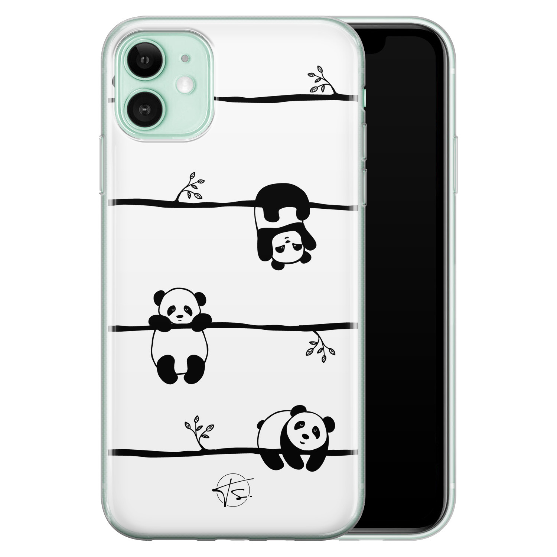 Telefoonhoesje Store iPhone 11 siliconen hoesje - Panda