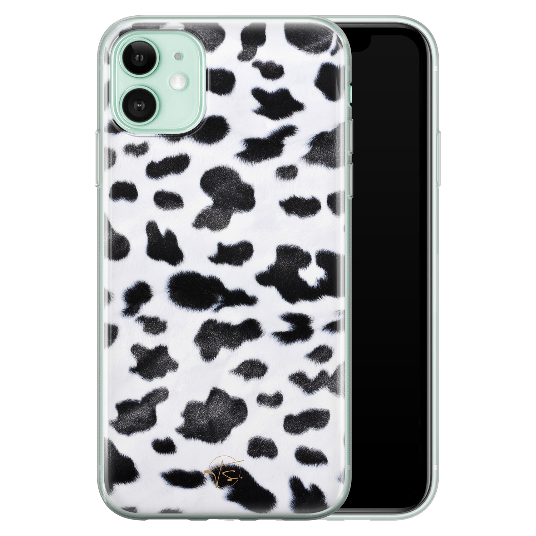 Telefoonhoesje Store iPhone 11 siliconen hoesje - Koeienprint