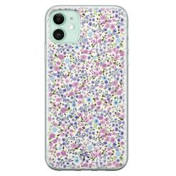 Telefoonhoesje Store iPhone 11 siliconen hoesje - Purple Garden