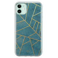 Telefoonhoesje Store iPhone 11 siliconen hoesje - Abstract blauw