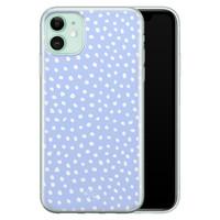 Telefoonhoesje Store iPhone 11 siliconen hoesje - Purple dots