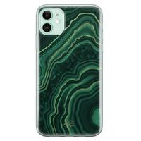 Telefoonhoesje Store iPhone 11 siliconen hoesje - Agate groen