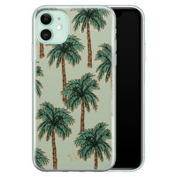 Telefoonhoesje Store iPhone 11 siliconen hoesje - Palmbomen