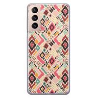 Telefoonhoesje Store Samsung Galaxy S21 siliconen hoesje - Boho vibes