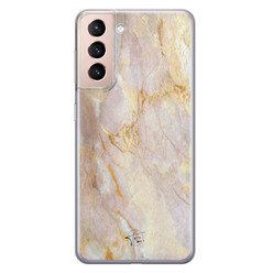 ELLECHIQ Samsung Galaxy S21 siliconen hoesje - Stay Golden Marble