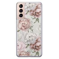 Telefoonhoesje Store Samsung Galaxy S21 siliconen hoesje - Classy flowers