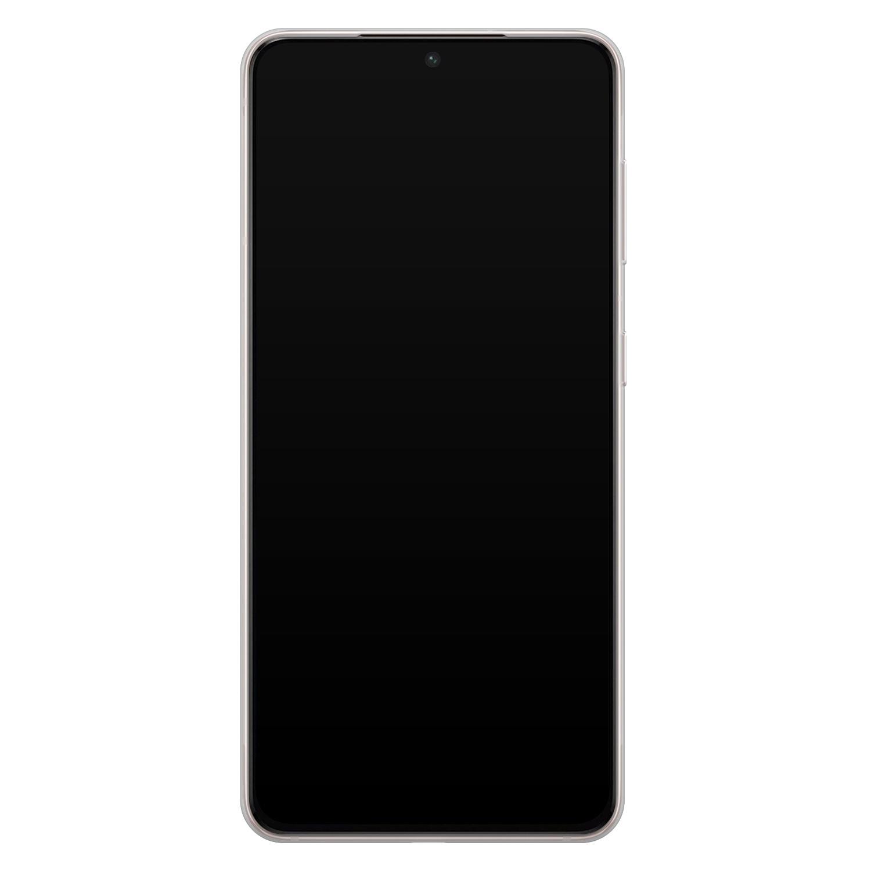 Telefoonhoesje Store Samsung Galaxy S21 siliconen hoesje - Marmer Limegroen