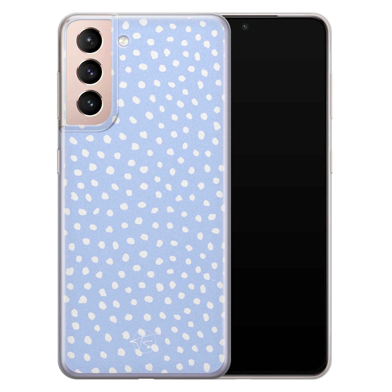 Telefoonhoesje Store Samsung Galaxy S21 siliconen hoesje - Purple dots