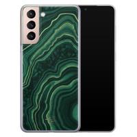 Telefoonhoesje Store Samsung Galaxy S21 siliconen hoesje - Agate groen
